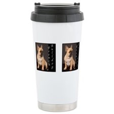 Funny Bulldog portrait Travel Mug
