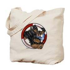 Agility Cocker Spaniel (Black/Tan) Tote Bag