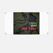 Rasta Peace One Love Banner