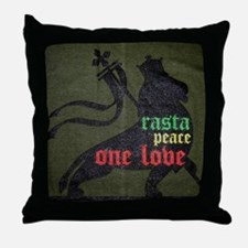 Rasta Peace One Love Throw Pillow