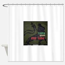 Rasta Peace One Love Shower Curtain