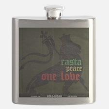 Rasta Peace One Love Flask