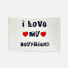 I Love MY BOYFRIEND Rectangle Magnet