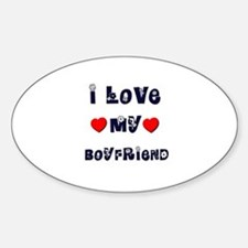 I Love MY BOYFRIEND Oval Decal