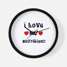 I Love MY BOYFRIEND Wall Clock