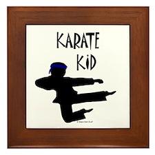 Karate Kid (Boy) Framed Tile