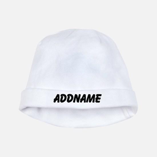 Black Custom Name Baby Hat