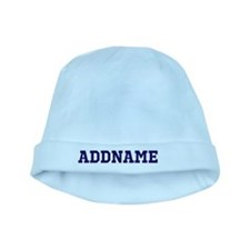 Blue Text Personalized Your Name Baby Hat