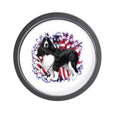English Springer Patriotic Wall Clock