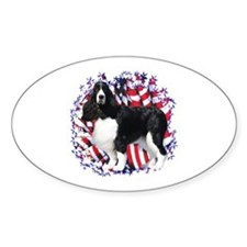 English Springer Patriotic Oval Decal