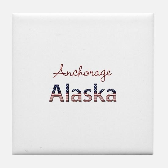 Custom Alaska Tile Coaster