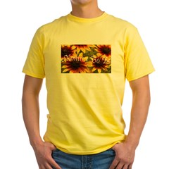 Mommy To Be (Floral) Yellow T-Shirt
