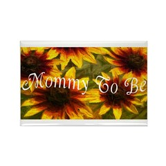 Mommy To Be (Floral) Rectangle Magnet