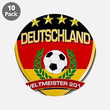 """Deutschland Weltmeister 2014 3.5"""" Button (10 pack)"""