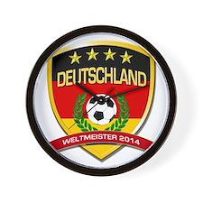 Deutschland Weltmeister 2014 Wall Clock