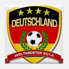 Deutschland Weltmeister 2014 Tile Coaster