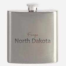Custom North Dakota Flask