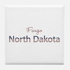 Custom North Dakota Tile Coaster