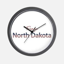 Custom North Dakota Wall Clock