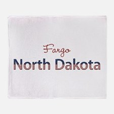 Custom North Dakota Throw Blanket