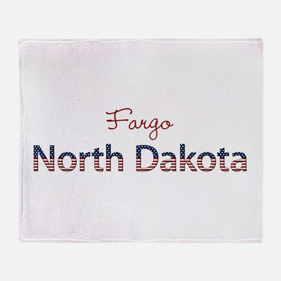 Custom North Dakota Throw Blanket