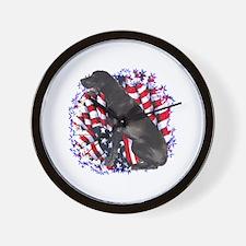Dane Patriotic Wall Clock