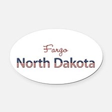 Custom North Dakota Oval Car Magnet