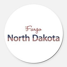 Custom North Dakota Round Car Magnet