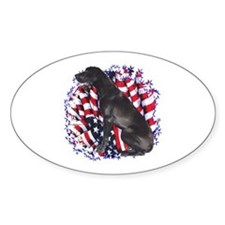 Dane Patriotic Oval Decal