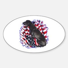 Dane Patriotic Oval Decal