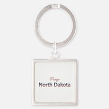 Custom North Dakota Square Keychain