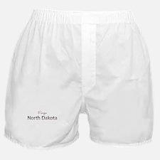 Custom North Dakota Boxer Shorts