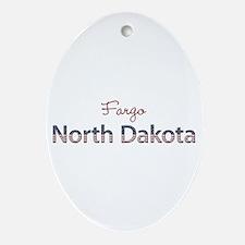 Custom North Dakota Ornament (Oval)