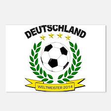 Deutschland Weltmeister 2014 Postcards (Package of