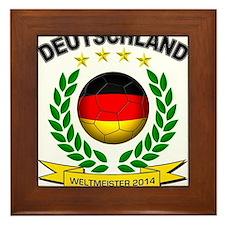 Deutschland Weltmeister 2014 Framed Tile