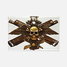 Brass Imperial Eagle Skull Machine Guns Magnets