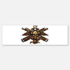 Brass Imperial Eagle Skull Machine Guns Bumper Sti