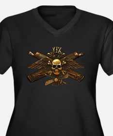 Brass Imperial Eagle Skull Machine Guns Plus Size