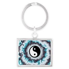 Ying Yang Flame Keychains