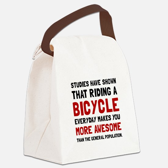 Bicycle More Awesome Canvas Lunch Bag