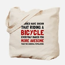 Bicycle More Awesome Tote Bag