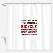 Bicycle More Awesome Shower Curtain