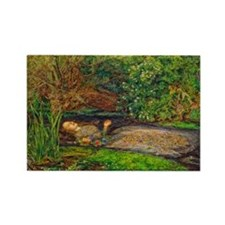 Millais: Drowning Ophel Rectangle Magnet (10 pack)