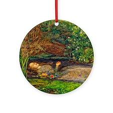 Millais: Drowning Ophelia Ornament (Round)