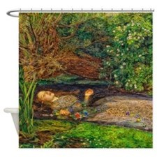 Millais: Drowning Ophelia Shower Curtain