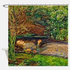 Millais: Drowning Ophelia Shower Curtain