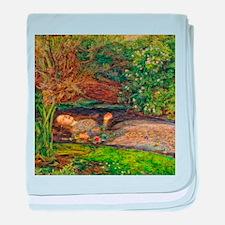 Millais: Drowning Ophelia baby blanket