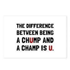 Chump Champ U Postcards (Package of 8)