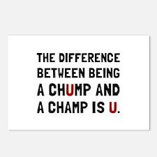 Chump Champ U Postcards (Package of 8)