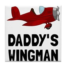 Daddys Wingman Tile Coaster